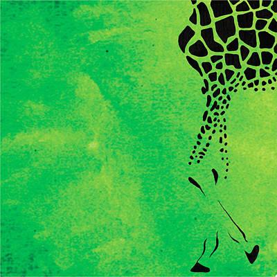 Giraffe Animal Decorative Green Wall Poster  6 - By Diana Van Poster
