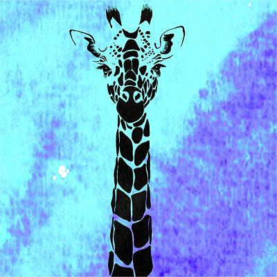 Giraffe Animal Decorative Wall Poster 1 Poster by Diana Van