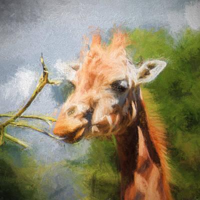 Giraffe Impression Poster by Sharon Lisa Clarke