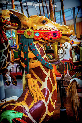 Giraffe Ride Poster by Garry Gay