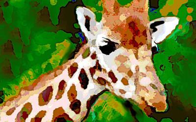 Giraffe Watercolor  Poster by Enki Art