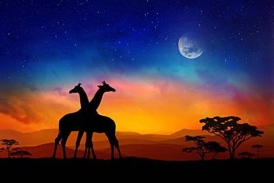 Giraffes Can Dance Poster by Iryna Goodall