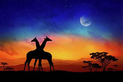 Giraffes Can Dance Poster