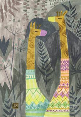 Giraffes In Turtleneck Sweaters Poster