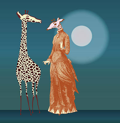 Giraffes - Late Night Rendezvous Poster