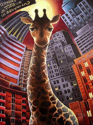 Giraffes Often Starve In Babylon Poster by Marcus Anderson