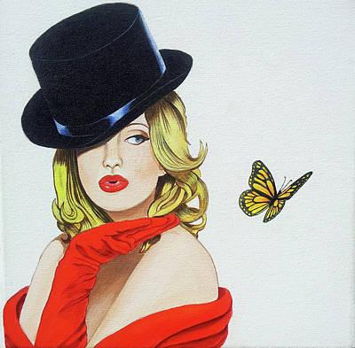 Girl  Butterfly Poster