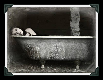 Girl In A Bath Tub  Poster by Pamela Patch