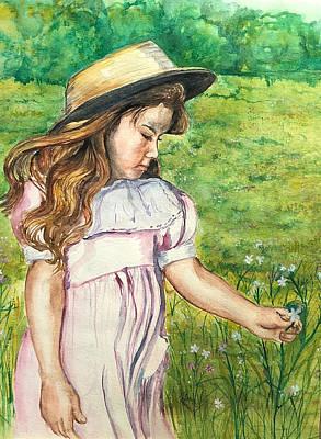 Girl In Straw Hat Poster