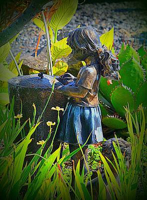 Poster featuring the photograph Girl In The Garden by Lori Seaman
