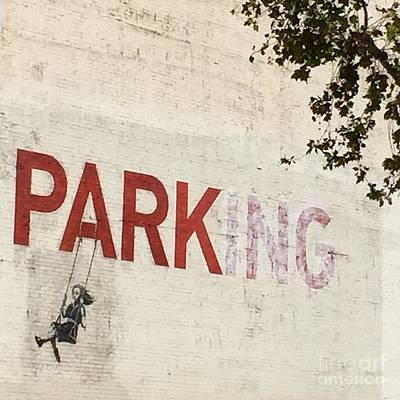 Banksy Park Poster by Maureen J Haldeman