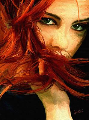 Girl Portrait 08 Poster by James Shepherd