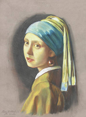 Girl With Pearl Earring By Vermeer Poster by Kean Butterfield