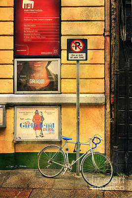 Girlfriend Bicycle Poster by Craig J Satterlee