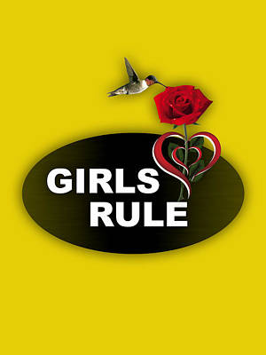 Girls Rule Collection Poster by Marvin Blaine