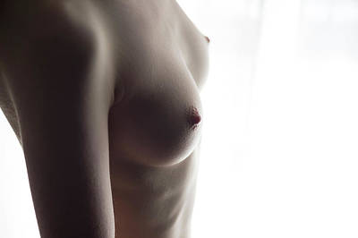 Girls Torso In Front Of Window Poster
