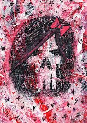 Girly Scene Skull Poster