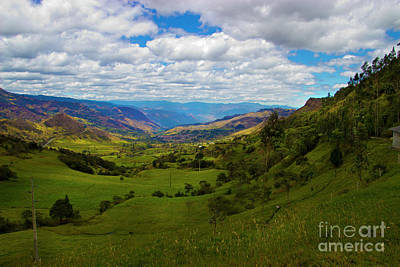 Giron Valley View From Portete, Ecuador Poster by Al Bourassa