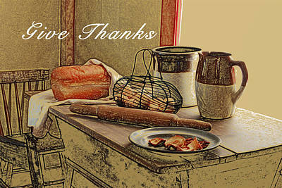 Give Thanks Poster by Michael Peychich