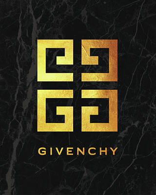 Givenchy - Black And Gold Poster