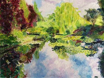 Poster featuring the painting Giverney by Mary K Conaboy