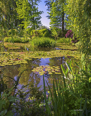 Poster featuring the photograph Giverny France - Claude Monet's Pond  by Allen Sheffield