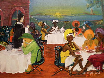 Poster featuring the painting Giving Thanks At Sunset Garden by Barbara Hayes