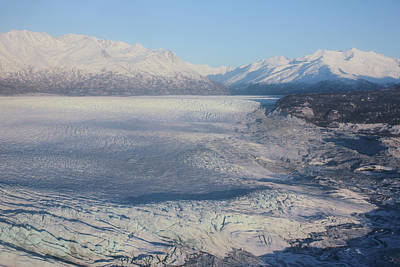 Poster featuring the photograph Glacier In Alaska by Jingjits Photography