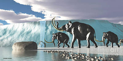 Glacier Mammoths Poster