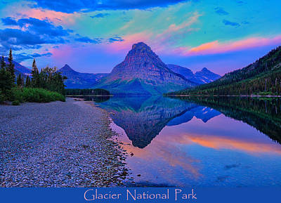 Glacier National Park Poster Poster by Greg Norrell