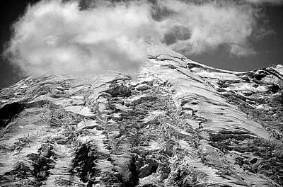 Poster featuring the photograph Glacier On Mt Rainier by Lori Seaman