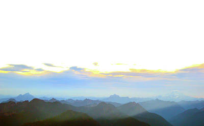 Glacier Peak At Sunrise Poster
