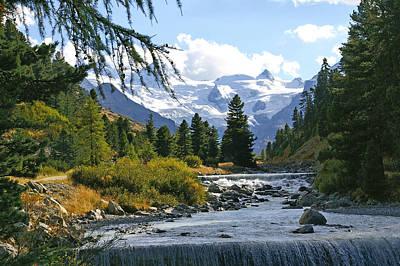 Glacier Stream Poster