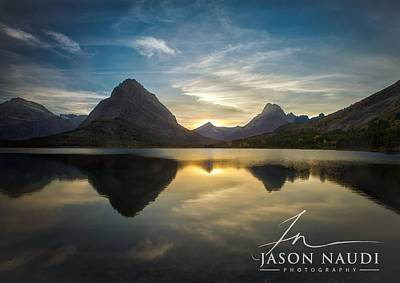 Poster featuring the photograph Glacier Sunset by Jason Naudi