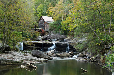 Poster featuring the photograph Glade Creek Grist Mill by Ann Bridges