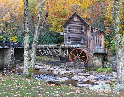 Glade Creek Grist Mill Poster by Jack Schultz
