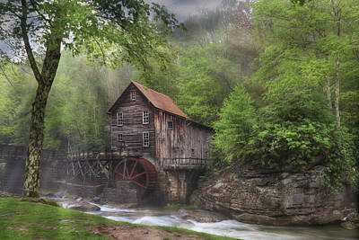 Glade Creek Grist Mill Poster by Lori Deiter