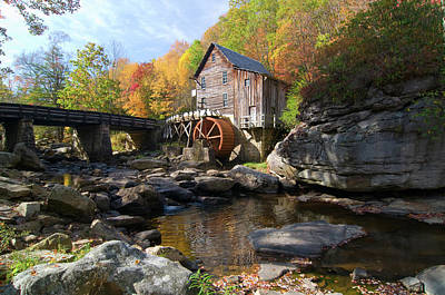Poster featuring the photograph Glade Creek Grist Mill by Steve Stuller