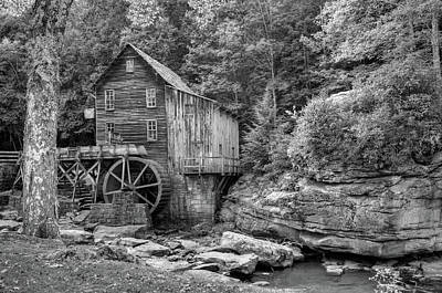 Glade Creek Mill In Black And White - Beckley West Virginia Poster