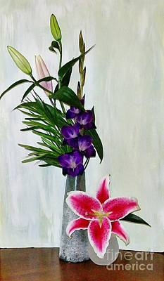 Gladiola And A Star Poster by Marsha Heiken