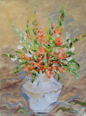 Poster featuring the painting Gladiolas by Judith Rhue