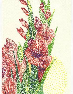 Gladiolas Poster by Leslie Genser