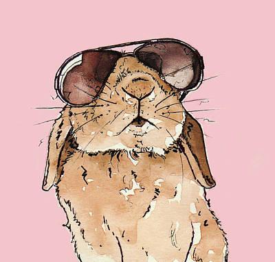 Glamorous Rabbit Poster by Katrina Davis