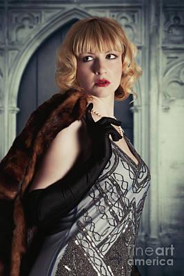 Glamorous Twenties Woman Poster by Amanda Elwell