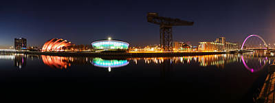 Glasgow Clyde Panorama Poster