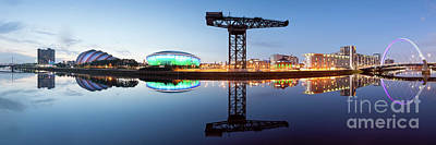 Glasgow Skyline Panorama Poster by John Farnan