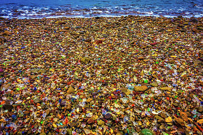 Glass Beach Ft Bragg Poster