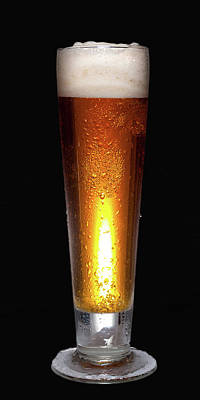 Glass Of Cold Beer Poster