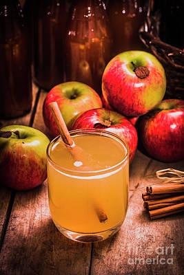 Glass Of Fresh Apple Cider Poster