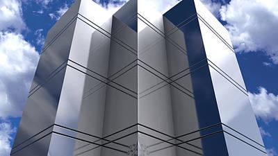Glassy Skyscraper Poster